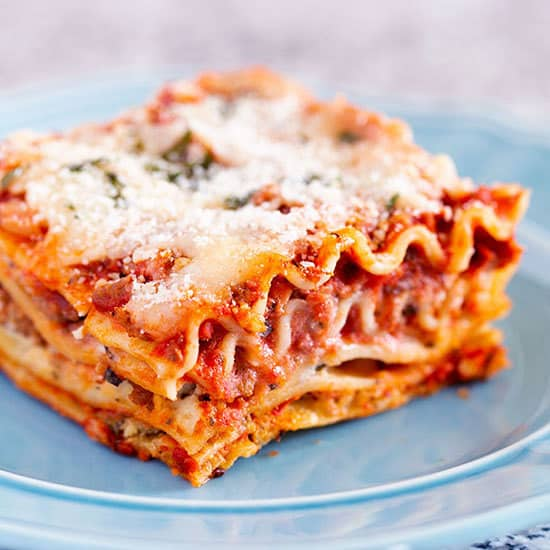 Homemade Lasagna with Cheese