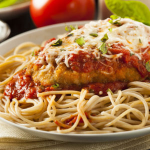 Chicken Parmesan with Spaghetti
