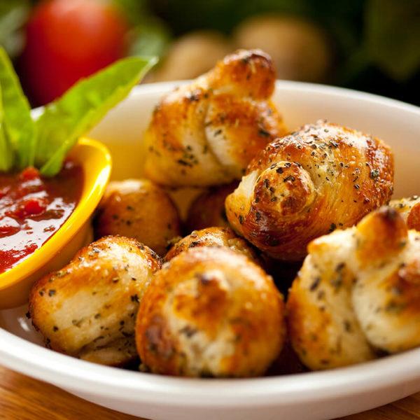 Homemade. With a side of marinara sauce