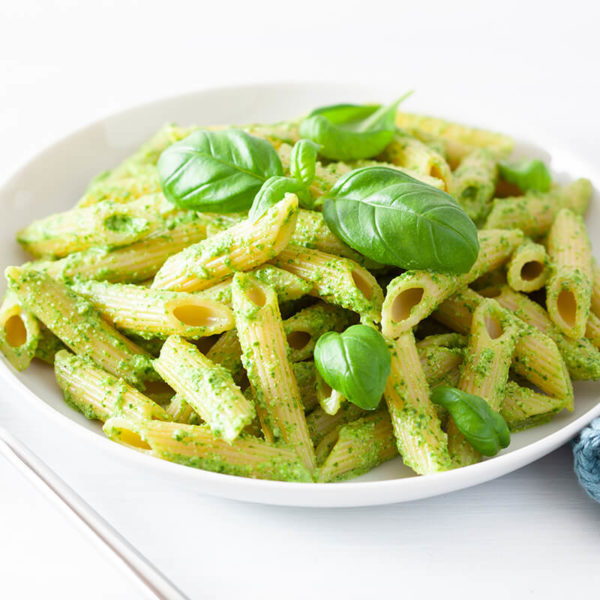 Baked Penne Pesto with Cheese