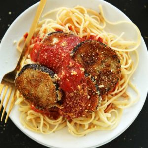 Eggplant Parmesan with Spaghetti
